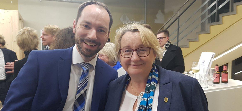 Thomas Schuster und Ministerin